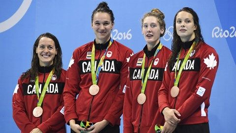 Canada wins bronze in women's 4x100m freestyle relay