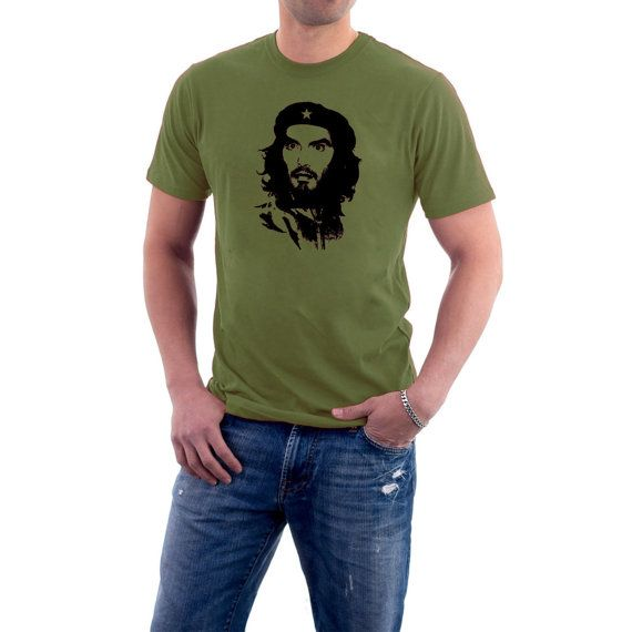 Everyone's favourite current revolutionary now dons the look of the great Che Guevara. Maybe one day, every student will have an image of Russell Brand on their bedroom wal... #politics #funny #humour #uk #britain #movies #beard #vote #cuba #communist #communism