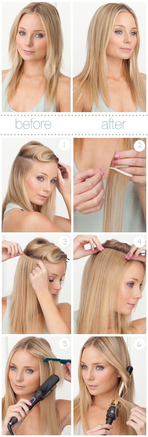 Tape-in hair extensions? Who knew?