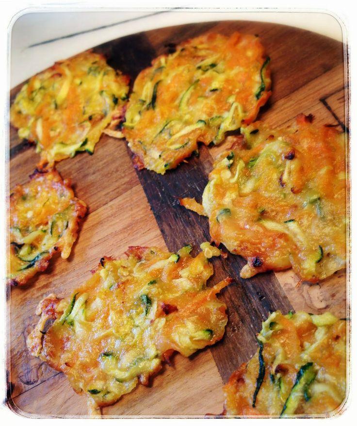 courgette, wortel, kaas koekjes (zonder bloem)