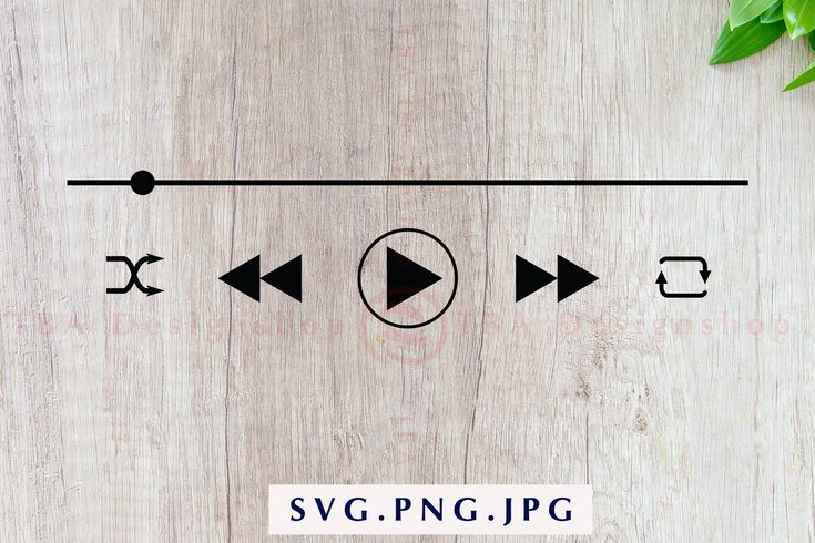 Audio Control Buttons svg Music Player Buttons svg Spotify