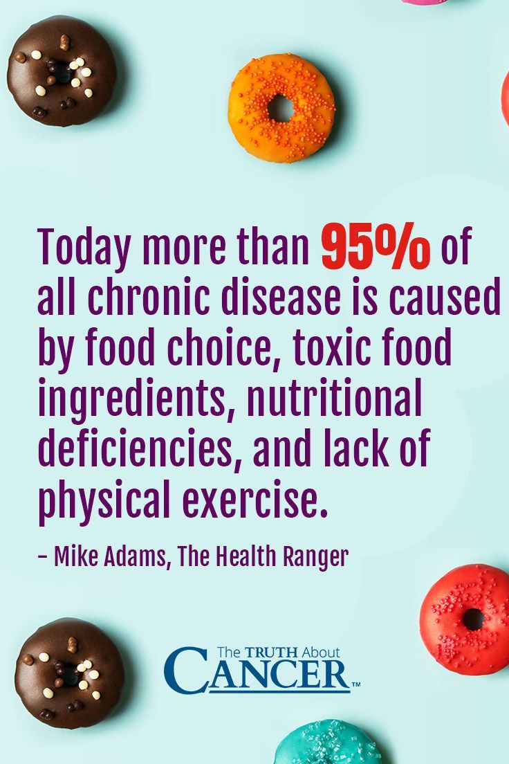 "Mike Adams (aka The Health Ranger) states, ""Today more than 95% of all chronic disease is caused by food choice, toxic food ingredients, nutritional deficiencies, and lack of physical exercise."" Click on the image above to learn more about the foods that most likely to cause cancer and find out the 4 steps to help prevent cancer. Please re-pin. Together we can eradicate cancer with a healthy lifestyle!"
