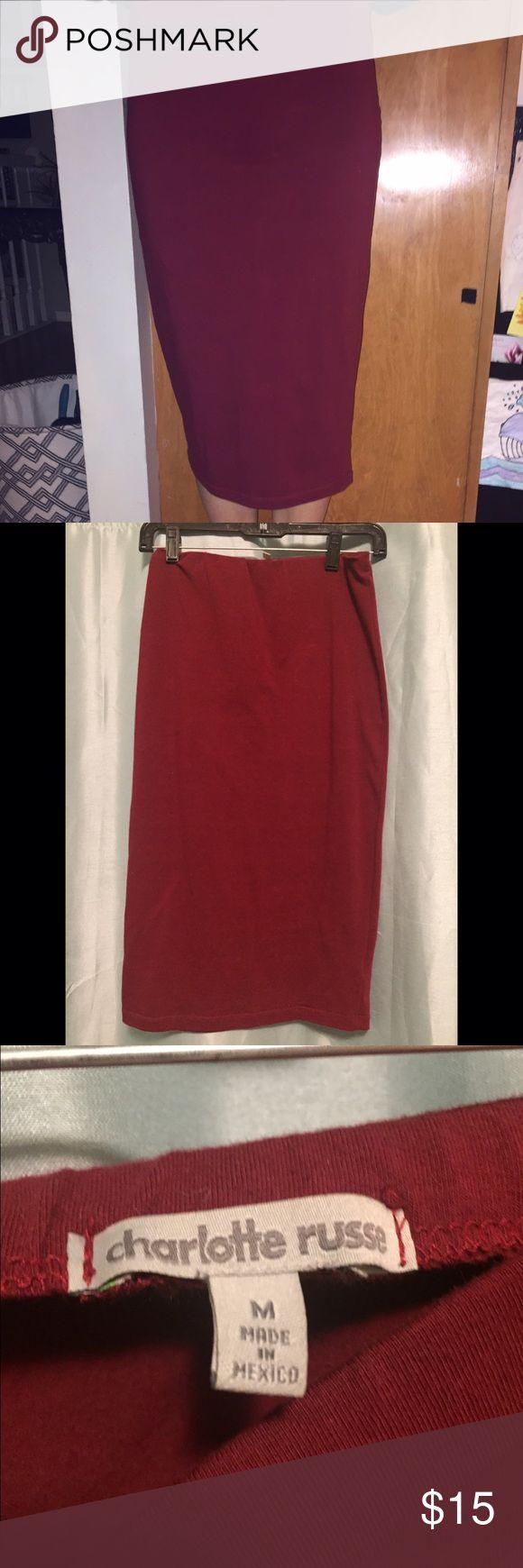 Dark red pencil skirt! Charlotte Russe dark red pencil skirt:)Smoke free home🚫 Charlotte Russe Skirts Pencil