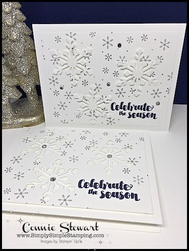 MAKE IT IN MINUTES video – 2 for 1 Snowflake Cards | Simply Simple Stamping | Bloglovin'