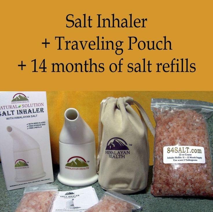 himalayan salt inhaler 14mo refill bag asthma copd allergies sinusitis snoring