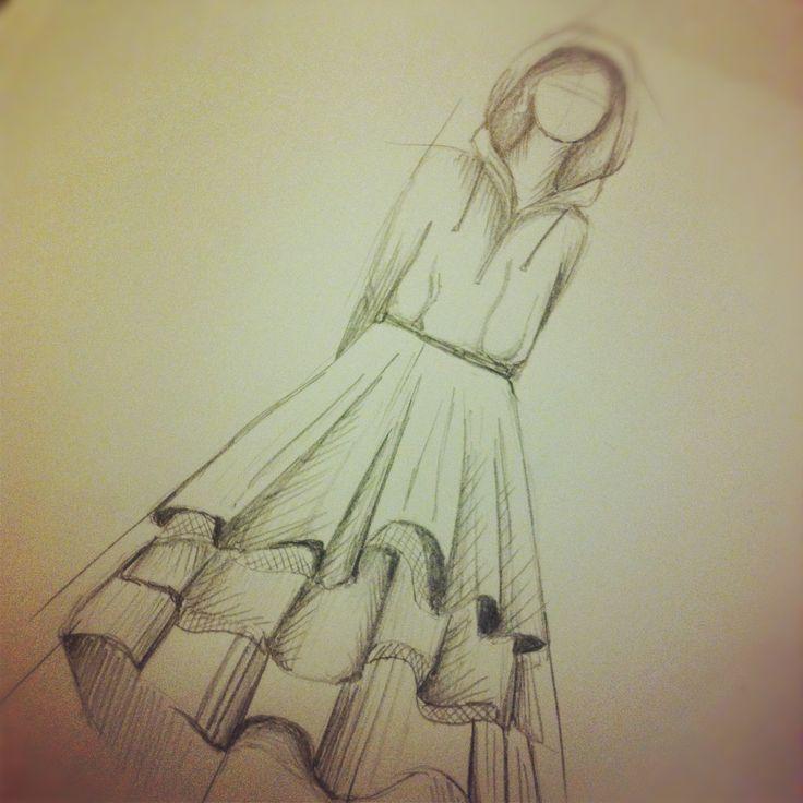 sketching a hoodie dress