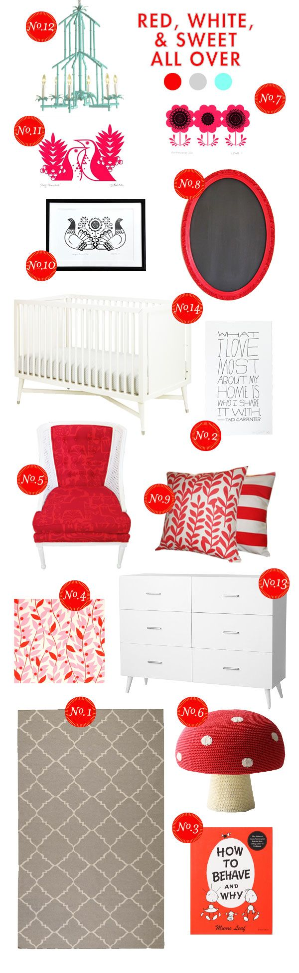 red-white-&-sweet all over nursery inspiration board. #pinhonest: Sweet, Lay Baby, Baby Lay, Girls Room, Inspiration Boards, Baby Room, Red White, White Bedroom, Kids Rooms