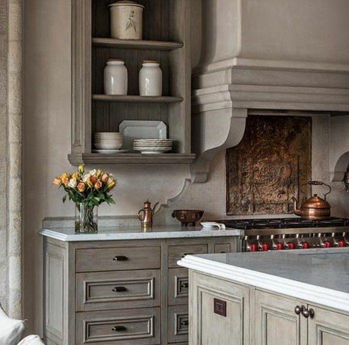 formidable modele cuisine joliment aménagée, idée magnifique comment repeindre sa cuisine en taupe, ambiance vintage rustique