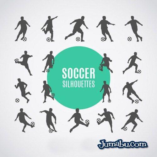 Siluetas de Jugadores de Fútbol en Vectores para Descargar | Jumabu! Design Tools - Vectorizados - Iconos - Vectores - Texturas