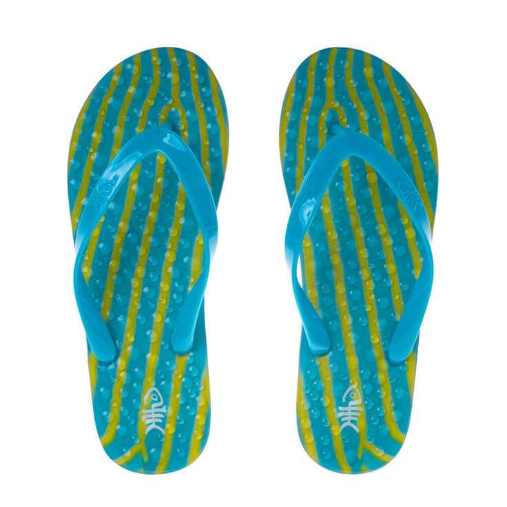 Ripples flopZ with blue straps and white outsole