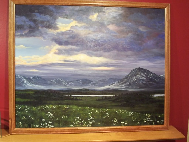 Last oil painting I did before switching to acryllics. Alaska.