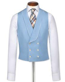 Blue morning suit waistcoat