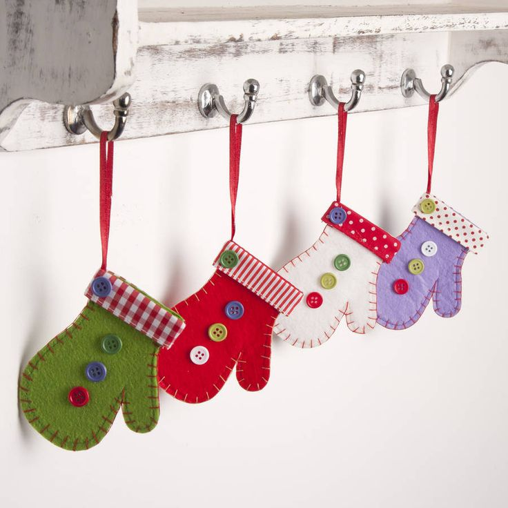 winter mittens christmas decorations by the christmas home | notonthehighstreet.com