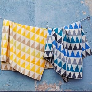 Lapuan Kankurit Harlekiini Yellow Wool Finnish Blanket