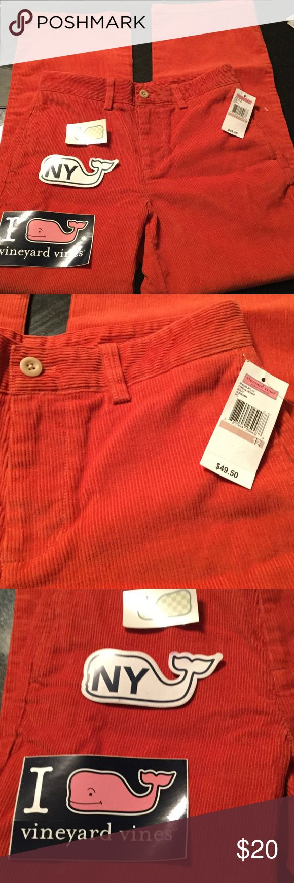 Vineyard Vines girls club pants Color is marked sundown. Club pants. Size 12. Stickers and tattoo included. Vineyard Vines Bottoms Casual