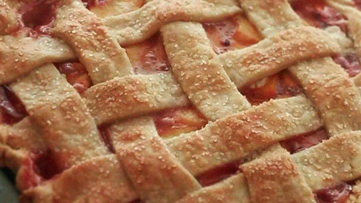 Das Rezept von Chefkoch John für Pfirsichpastete mit Gitteroberseite ist das perfekte Sommerdess …   – Yum