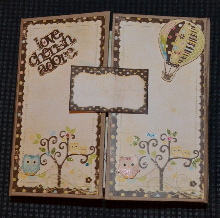 Gatefold album, vintage style, suitable for both girls and boys (front)