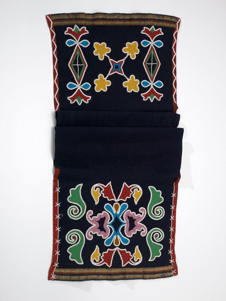 Sac and Fox man's breechcloth  ca. 1880  Oklahoma  Wool cloth, cotton cloth, glass bead/beads, cotton thread