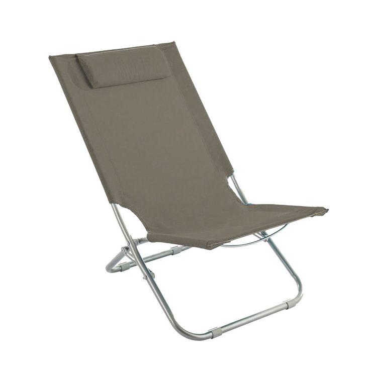 Lot de 2 chaises de plage Caparica - Taupe : choisissez parmi tous nos produits Mobilier de camping