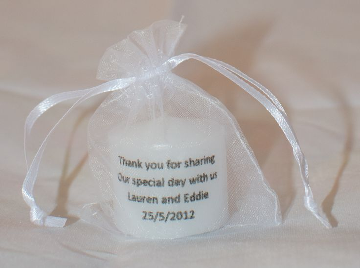 Wedding Favors Gifts For Guests Uk : ... Guest wedding favours, Candle wedding favors and Wedding guest gifts