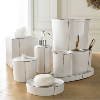Exceptionnel Kassatex Parigi Accessories | Shop Porcelain Bath Accessories | Kassatex