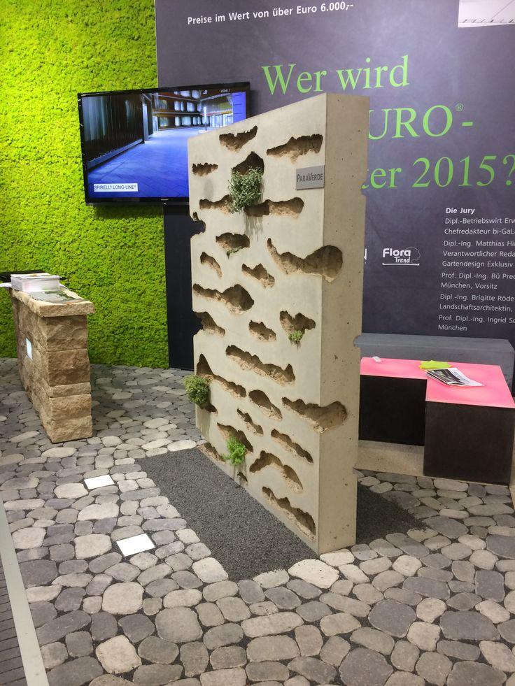 Stein+Design, concrete green wall, 2014, Galabau