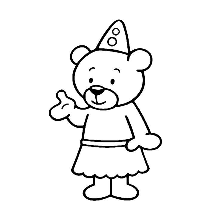 Leuk voor kids kleurplaat ~ Nanadu de dansende beer