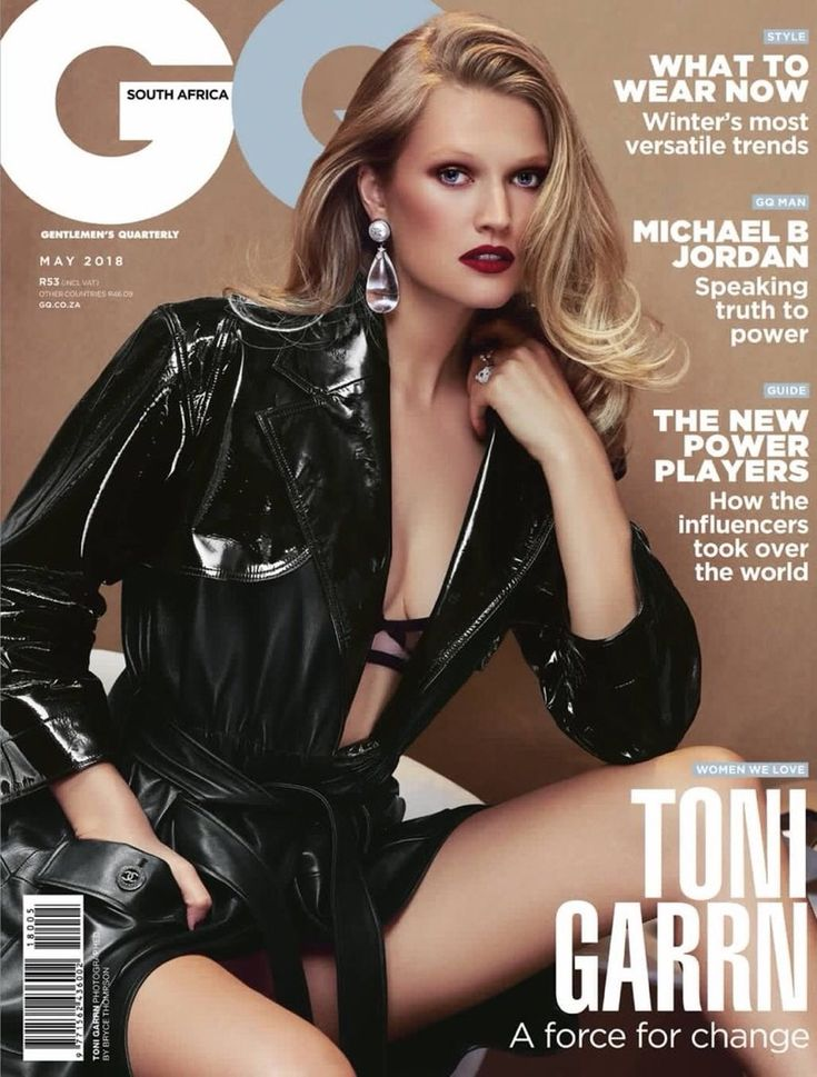 Toni Garrn seduces on the May 2018 cover of GQ South Africa. Lensed by Bryce Thompson, the blonde stunner wears designs from Agent Provocateur and Chanel. V Magazine, Gq Magazine Covers, Toni Garrn, Vanity Fair, Trent Coat, Fashion Resume, Alena Blohm, Blake Lovely, Bearded Tattooed Men