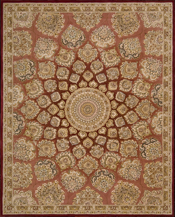 Persian Carpet Quality: Traditional Persian Palmettes Whirl Around A Center