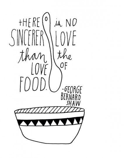 The Love for food..