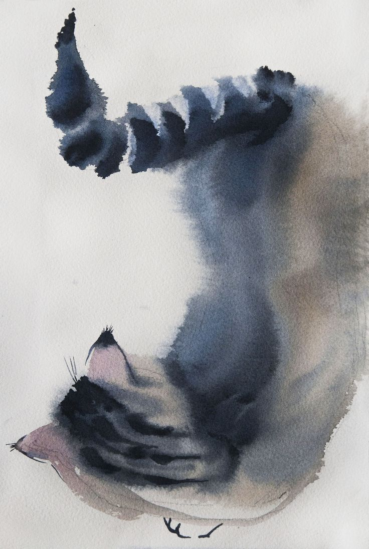Sposky№6 sketch 19*28sm watercolor on paper by Olga Flerova