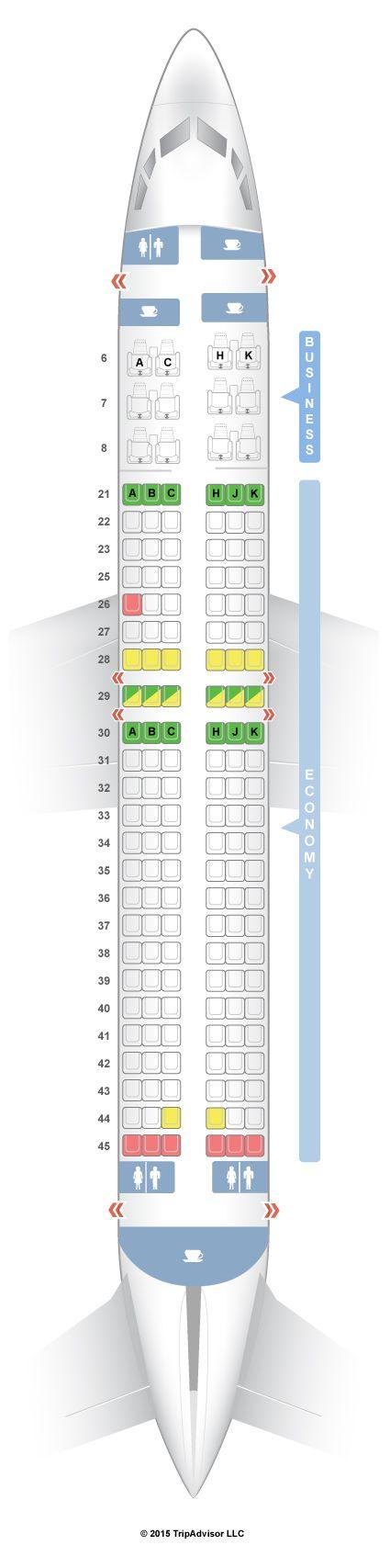SeatGuru Seat Map Garuda Indonesia Boeing 737-800 (738)