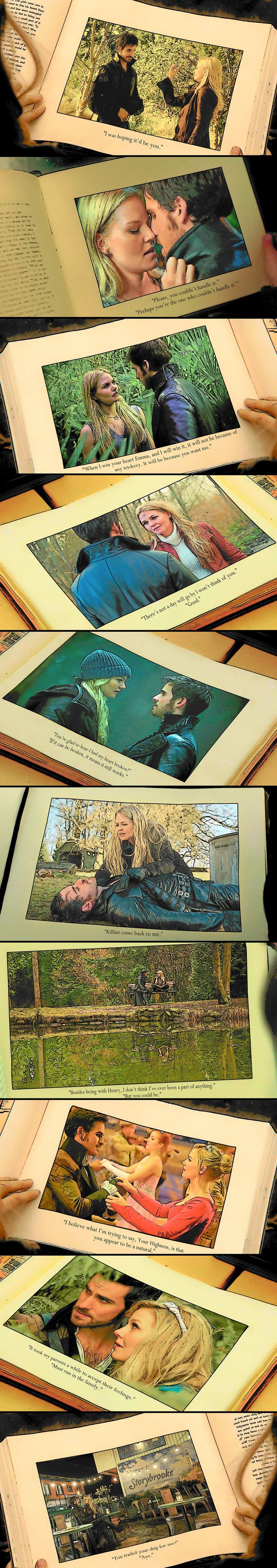 """""""The Tales of Captain Hook and Emma Swan.""""---- This is spectacular. Once Upon a Time"""