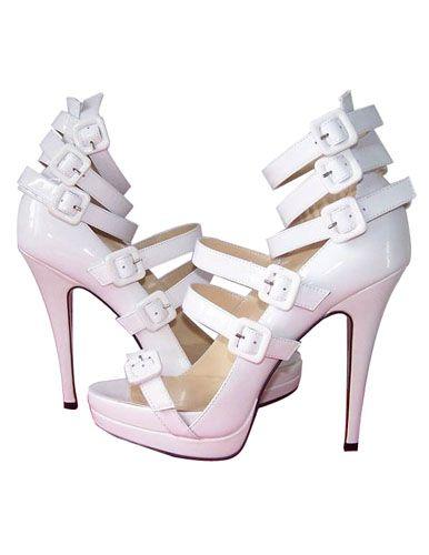 White Christian Louboutin Differa 140 Sandal [Louboutin shoes on sale] -  $148.00 : louboutian
