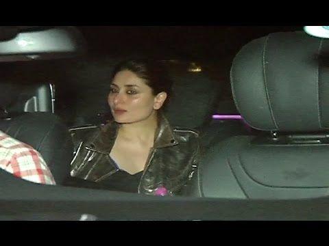 Kareena Kapoor Khan spotted at Kamal Amrohi's party 2017.
