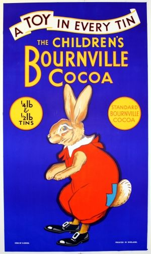 Bourneville Cocoa - original 1930s vintage advertising poster listed on AntikBar.co.uk Learn about your collectibles, antiques, valuables, and vintage items from licensed appraisers, auctioneers, and experts at BlueVault. Visit: http://www.bluevaultsecure.com/roadshow-events.php
