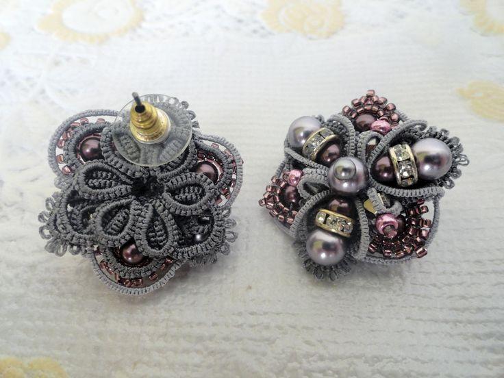 Серьги в технике АНКАРС. | biser.info - всё о бисере и бисерном творчестве