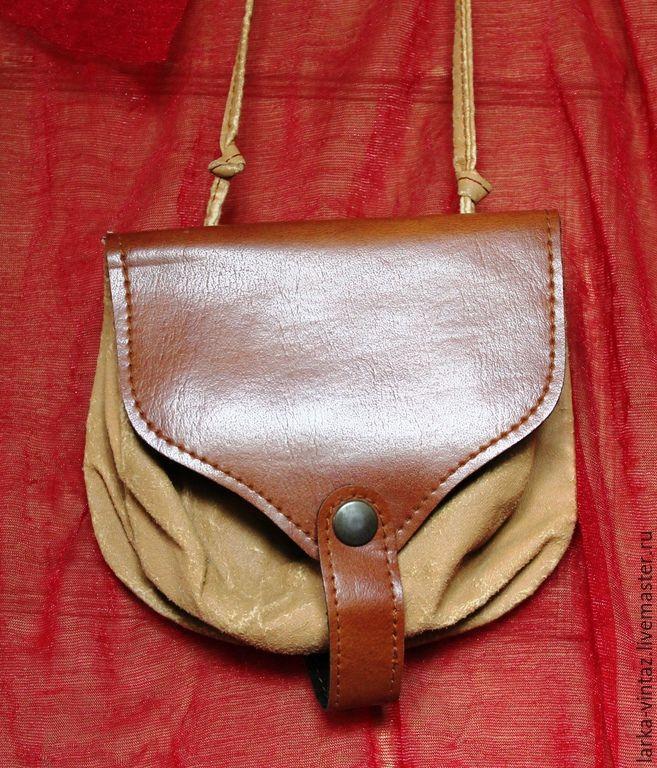 Купить Миниатюрная сумочка - коричневый, сумочка ручной работы, сумочка через плечо, сумочка из кожи