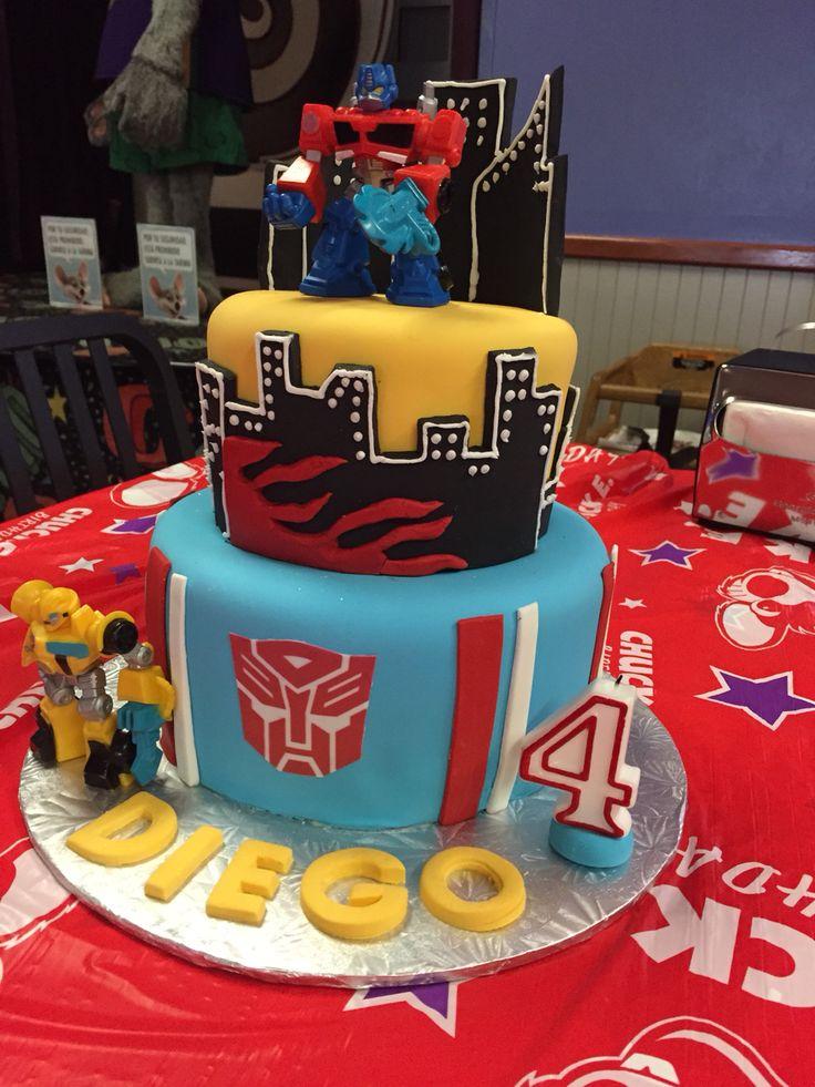 Transformers Rescue Bots Birthday Cake