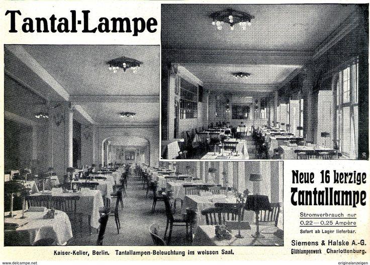 119 best vintage print ads reklame licht und lampen for Lampen charlottenburg