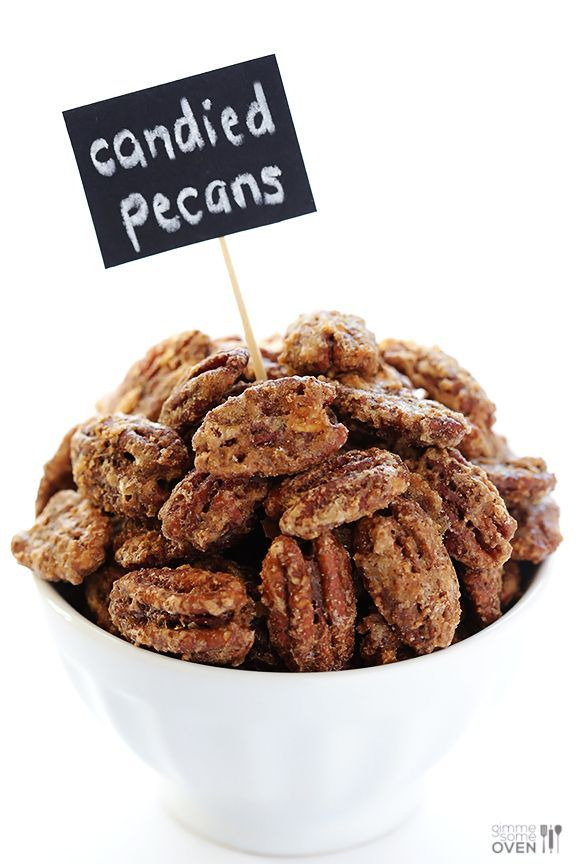 Candied Pecans -- all you need are 7 ingredients to make delicious candied nuts! | gimmesomeoven.com