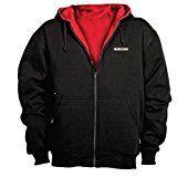NFL San Francisco 49ers Craftsman Full Zip Thermal Hoodie Black/Red XX-Large