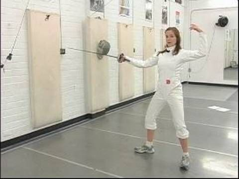 Epee Fencing Attacks : Using the Back Arm in Epee Fencing