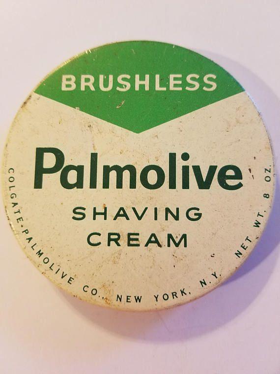 palmolive brushless shaving cream metal advertising jar lid