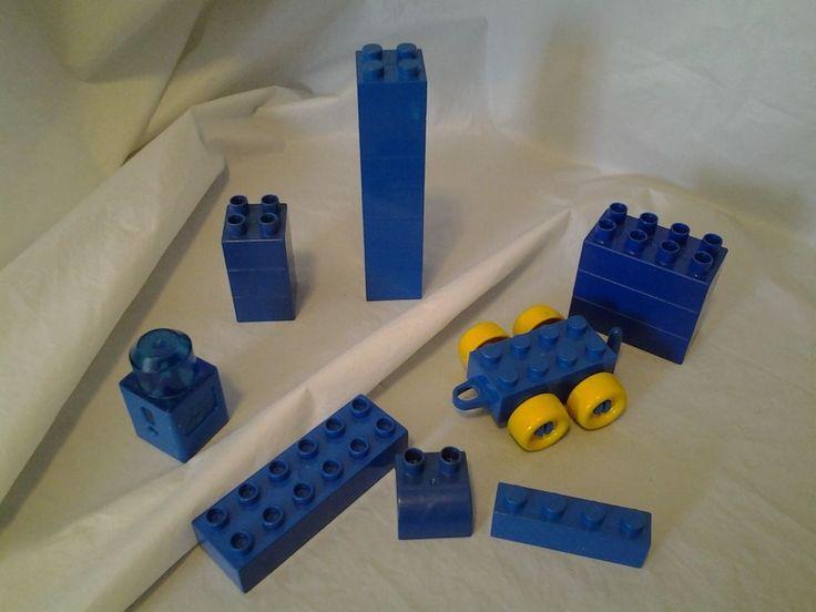 Mega Duplo Blocks Mixed Lot Blue Building Blocks Car Lot of 18 #MEGALegoDuplo