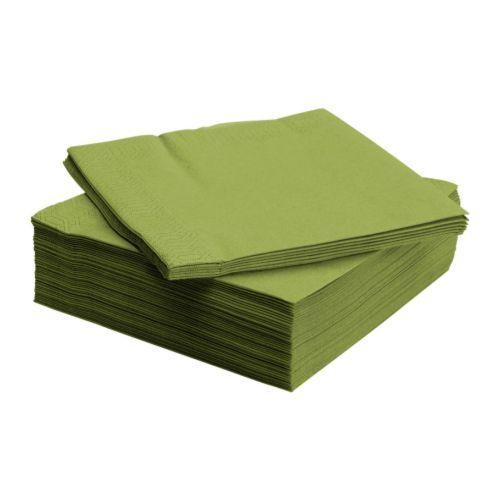 IKEA - FANTASTISK, Papieren servet, 40x40 cm, , Het servet heeft een goed absorberend vermogen: 3-laags papier. Misschien niet fris groen genoeg?