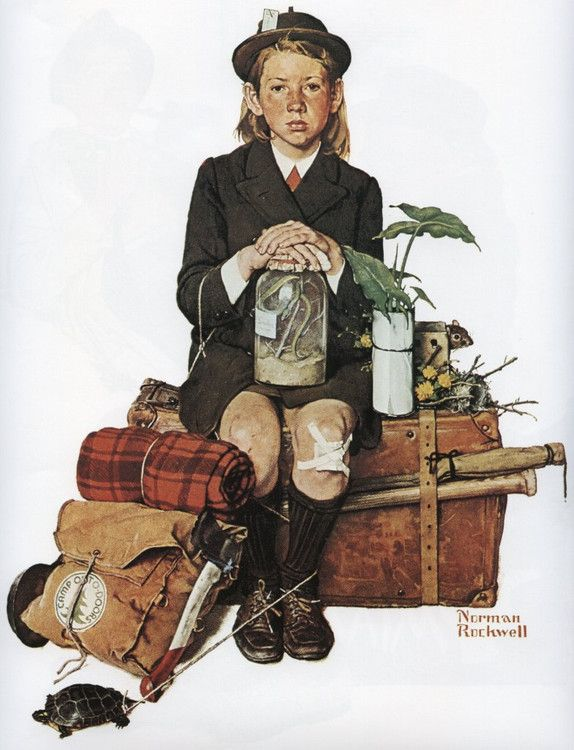 Norman Rockwell's work Returning From Camp. That's basically me coming back from camp!