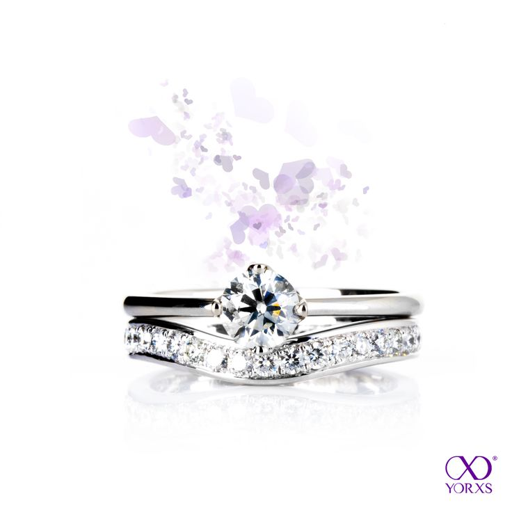 The combination of these two diamond rings is breathtaking! #Yorxs #Verlobungsring #Vorsteckring