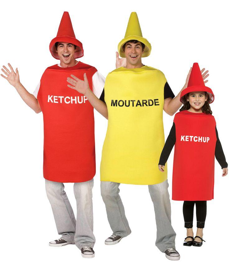 Disfraz de familia ketchup - mostaza: Disfraz de mostaza adultoEste disfraz de mostaza para adulto está compuesto de un mono y una cofia (camiseta, pantalón y zapatos no incluidos). El mono es de color amarillo sin mangas y...