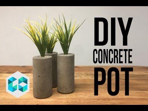 17 best ideas about concrete pots on pinterest diy - Maceteros de cemento ...